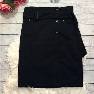 Anthro Cartonnier Navy Button Pencil Skirt